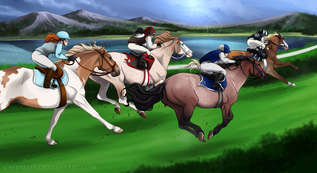 Flying down the stretch by CSStables
