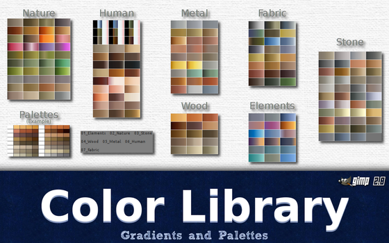 Gimp Color Library by GrindGod