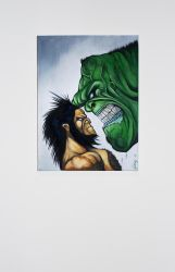 Wolverine vs Hulk by Linsy96