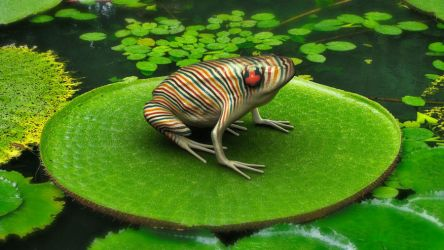Poison Candy-cane Frog by capt-toenail