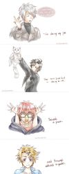 Basically Mystic Messenger.... by BlueWatermelonCat
