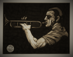 Jazz Player by Batman4art
