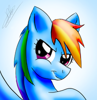 Rainbow Dash-simple smile by katie-the-fox