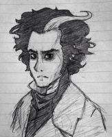Sweeney Todd Sketch by Snappieta