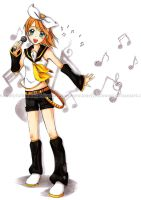 VOCALOID: Kagamine Rin by LonelyFullMoon
