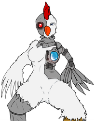 Robot Chick by Methados