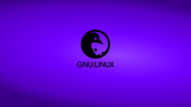 GNULinux YinYang Wallpaper | Indigo by Dablim