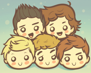 chibi one direction by LPSkrista123