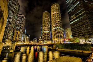 Across the river at night by lightzone