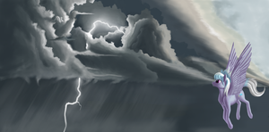 Watch the thunderstorm by Pony-Way
