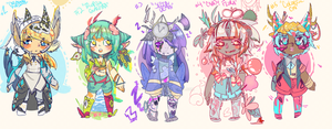 [misc.] MIXED ADOPTS SET - OPEN! by milk-time
