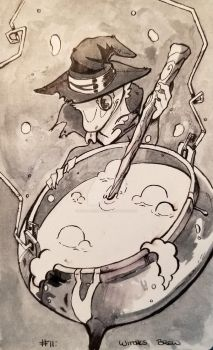 Inktober 2017: Witches Brew by ChameleonTech