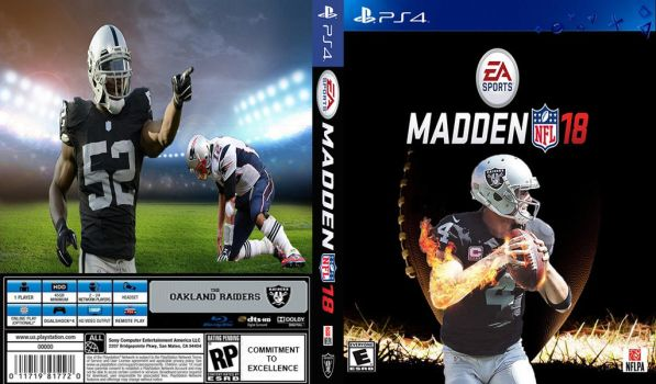 MADDEN 18 - RAIDERS EDITION COVER by nightrocker70