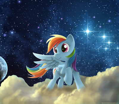 Rainbow Dash IN SPACE -not original- by macpony55