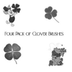 Photoshop Brushes - Clovers (Saint Patrick's Day) by ai-forte