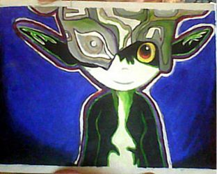 Midna painting by 97bluerose