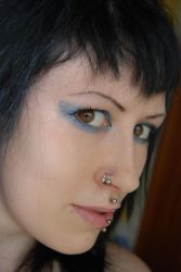 Blue eyeshadow 2 STOCK by she-sinsstock