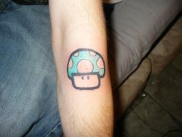 1 up tattoo by ravercandy