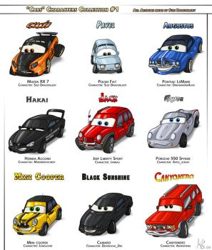CARS Characters Collection 1 by suzidragonlady
