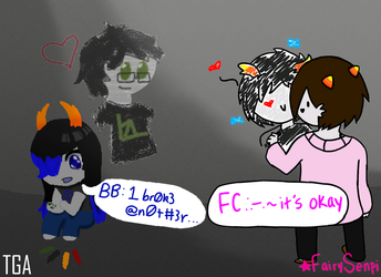 BB drawing with FC : A Collab With FairySenpi by TheNinjaGamingArtist