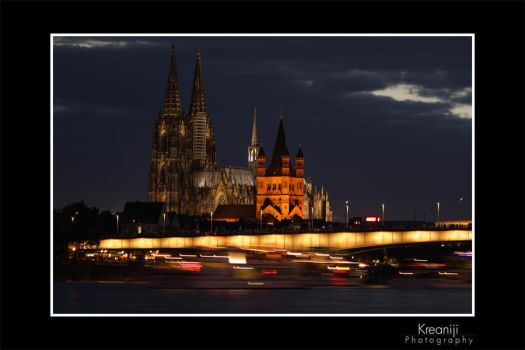cologne at night by Kreaniji-PHOTOGRAPHY