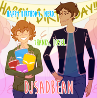 Happy Birthday to me and Pidge!! by djsadbean