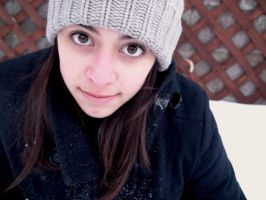 Snow and my face by Iararawr