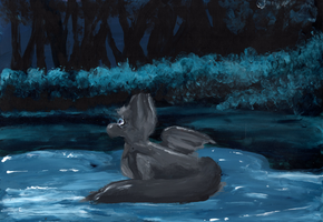 In the Moon's pool by tsand106