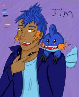 Pokemon oc reference: Jim (Updated with bio) by baconbirdie