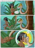 Mowgli and Kaa vore comic commission page 1 by thesnakechild