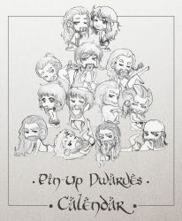 Pin up Dwarves Calendar by AlyTheKitten
