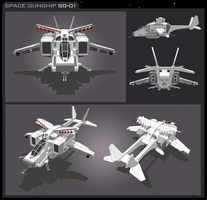 Space Gunship SG-01 by vpRaptor