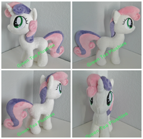 Sweetie Belle plush by GreenTeaCreations