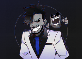 Darkiplier and Dark Tim by SonicSpeedz