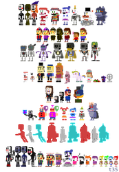 Fredland Classic Mode: Miscellaneous sprites by realshow