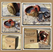 Steampunk headphones  - Watchmaker by Svetliy-Sudar