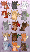 Leaders of Thunderclan by WoofyDragon