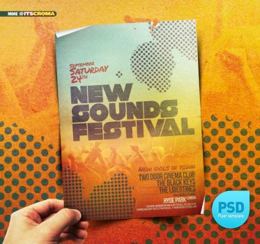 PSD Indie Vintage Flyer Festival by itscroma
