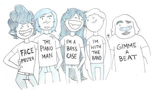Band Shirts by parttimedoodles