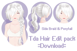Tda hair edit pack ::download:: (SideBraid : Pony) by Ariestellar