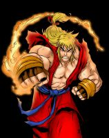 Ken Masters - Street fighter Alpha. by aeanchile