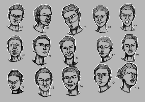 Expressions with reference 2 by YoshiWoo