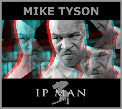 3D anaglyph Mike Tyson as Frank by gogu1234