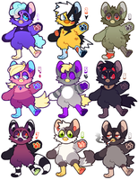 anthro furby adopts - closed by thekingtheory