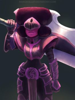 Armored Gems - Garnet by Montano-Fausto