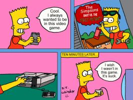 Bart playing Space Mutants Revisited by DJgames