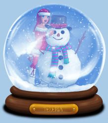 Animated Snow Globe: Telena by Coraleana