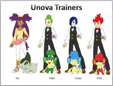 Unova Trainers by ciciweezil96