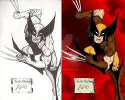 Wolverine With Original Ink by JesseAllshouse
