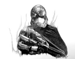 Captain Phasma Stormtrooper by OMKDrawings